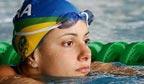 Mais rápida nadadora nos 50m livre em piscina curta