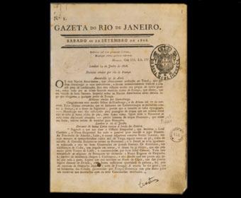 Primeiro jornal impresso no Brasil