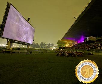 Maior festival de cinema ao ar livre