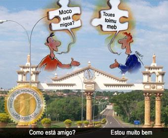 Única cidade que fala português de trás para frente