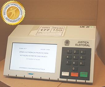 Primeira utilização da urna biométrica