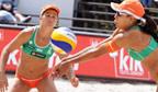Dupla feminina de vôlei de praia com maior número de títulos mundiais