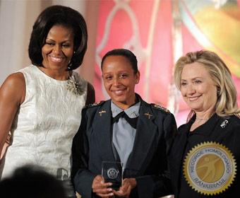 Primeira brasileira a receber o Prêmio Internacional Mulheres de Coragem