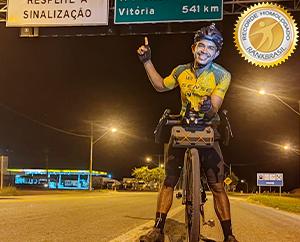 Mais rápida travessia de bicicleta do Monte Caburaí ao Chuí