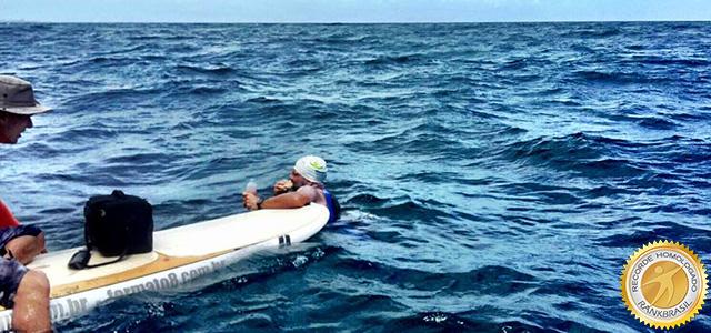 315b425547c9 Ricardo Serravalle bate recorde com projeto de preservação dos oceanos e da  Baía de Todos os Santos / Foto: Arquivo Recordista
