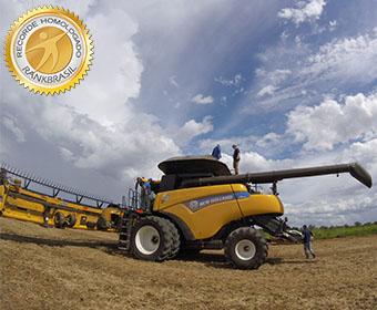 Colheitadeira com maior desempenho em soja do Brasil