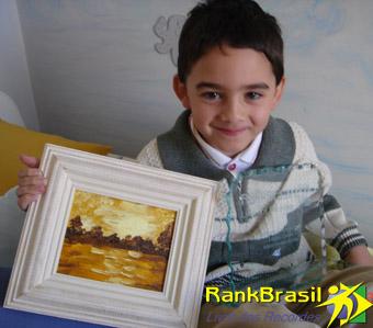 Mais jovem pintor em telas