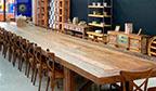 Maior mesa em madeira de demolição