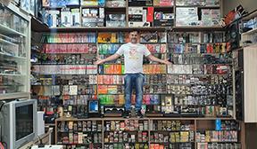 Maior coleção de cartuchos Atari
