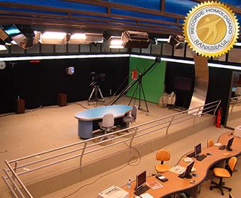 Maior estúdio Newsroom fora da cabeça de rede