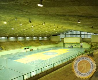 Ginásio de esportes com o maior vão livre em concreto protendido