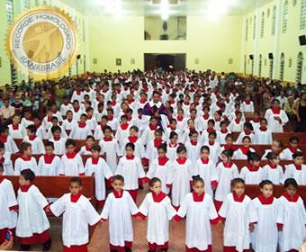 Maior número de coroinhas em uma paróquia