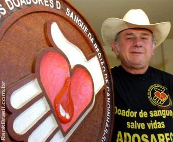 Morre o maior doador de sangue do Brasil e do mundo