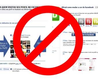 'Veja quem te visitou no Facebook' é um vírus