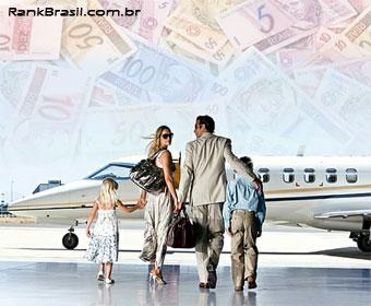Brasil tem 165 mil milionários