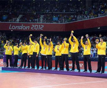 Vôlei masculino ganha a prata nos Jogos de Londres