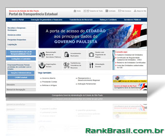São Paulo lidera ranking de transparência no Brasil