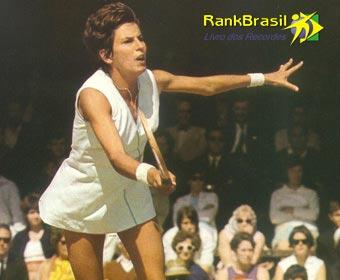 Atleta brasileira com o maior número de títulos no tênis