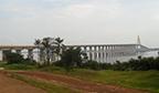 Maior ponte estaiada em águas fluviais