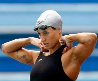 Mais rápida nadadora nos 100m livre em piscina curta