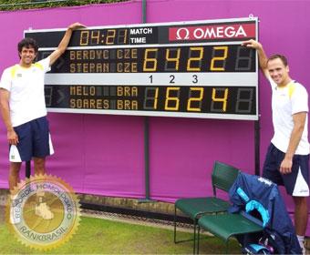 Jogo mais longo do tênis olímpico em dupla
