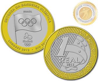 Primeira moeda brasileira comercial com tema olímpico