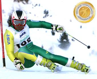 Brasileiro com a melhor marca no Slalom Gigante