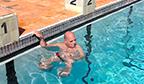 Paratleta com maior tempo flutuando na água de costas