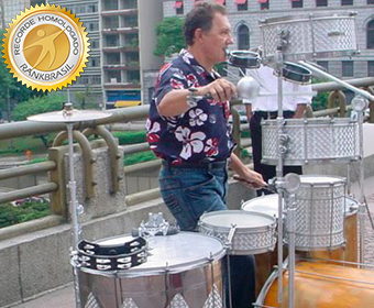 Maior quantidade de instrumentos tocados simultaneamente