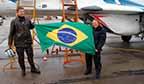 Primeira brasileira a ir para a estratosfera