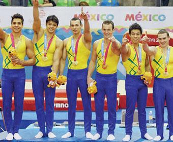 Primeira equipe masculina de ginástica artística a conquistar ouro em Pan-Americanos