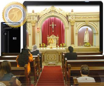 Primeira Capela online de Adoração Perpétua com transmissão ao vivo