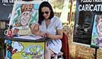Caricaturista de rua com mais tempo de trabalho (feminino)
