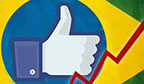 Brasil lidera ranking de crescimento no Facebook em 2012