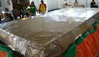 Rapadura gigante é produzida no Ceará