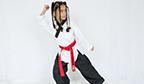 Menina de seis anos pode quebrar recorde no taekwondo