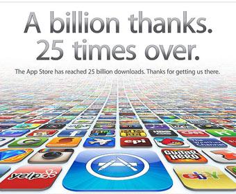 App Store alcança a marca de 25 bilhões de downloads