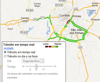 Google Maps ajuda a fugir do congestionamento