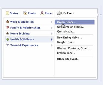 Facebook vai identificar doadores de órgãos