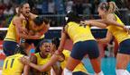 Brasil é bicampeão olímpico no vôlei feminino
