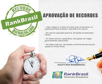 Informações conflitantes aos recordes divulgados pelo RankBrasil